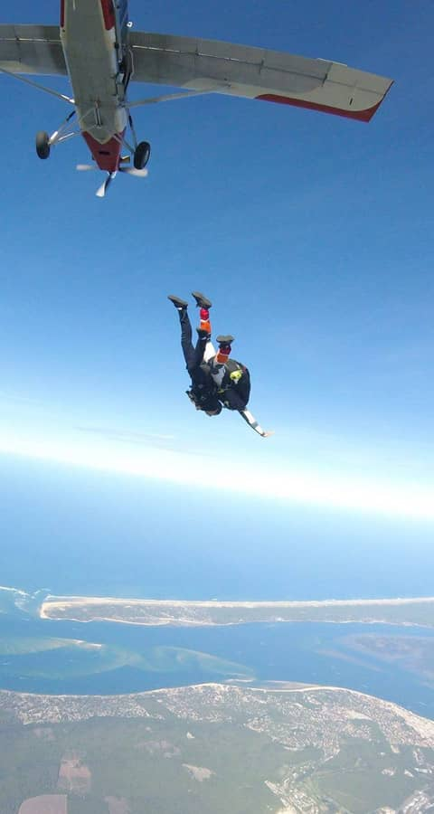 saut parachute bassin arcachon