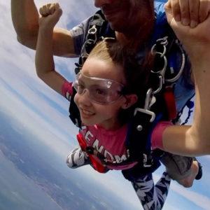 saut parachute enfant