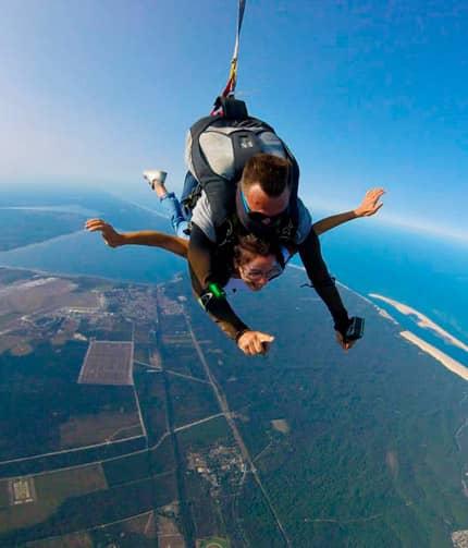 Vertical T'Air Parachutisme Saut en tandem Bordeaux Arcachon